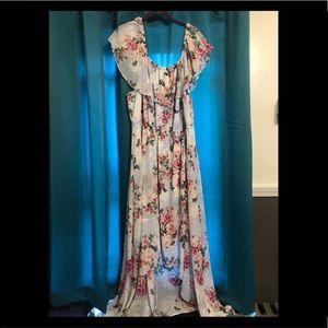 Floral off the shoulder dress from Torrid.